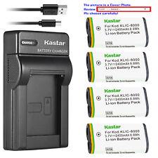 Kastar Battery Slim Charger for Kodak KLIC-8000 & Kodak Z1485 IS Kodak Z612 IS