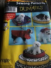 SEWING PATTERN FOR DUMMIES S4367 DOG COATS 3 SIZES HAT & BEDS UNCUT OOP