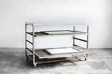 Custom-Made Steel Rolling Rack with Expanding Shelves