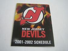 2001/02 NHL NEW JERSEY DEVILS POCKET SCHEDULE***FOX SPORTS NET***