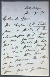 Angela Burdett Coutts, SIGNED letter, 1870