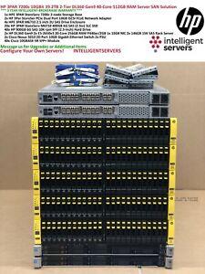 HP 3PAR 7200c 2Tier 39.2TB SSD & 10K SAS 10Gbit iSCSI Gen9 40-Core SAN Solution