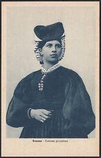 AX3635 Scanno (AQ) - Costume giornaliero - Cartolina postale - Postcard