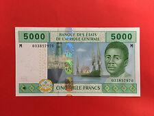 "5000 FRANCS B.E.A.C 2002 CAMEROUN BILLET en ETAT "" SPLENDIDE """