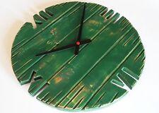 Orologio da parete muro legno stile shabby chic moderno verde 40cm meccanismo