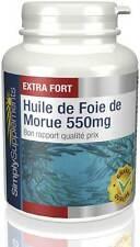 Huile de Foie de Morue 550mg - Source d'oméga 3 - 180 + 180 (360) Gélules
