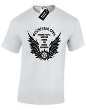 SAVING PEOPLE HUNTING THINGS UNISEX T SHIRT SUPERNATURAL WINCHESTER BROTHERS FAN