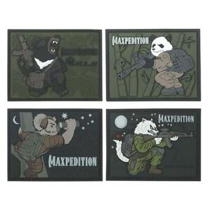 Maxpedition Limited Edition Badass Beasts Morale Patch Set of 4 GID
