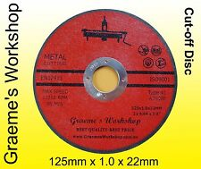 "CUTTING DISC.....125mm 5"" .  box of 25  SAFETY CERTIFIED! AUSSIE SELLER!"