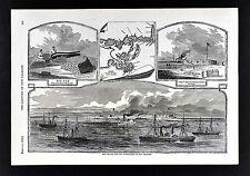 Harper's Civil War Print - Ship Island - New Orleans Approach - Louisiana Delta