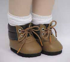 NIP-adorable brown hiking boots fit American Girl and Bitty Baby