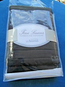 NORDSTROM AT HOME CHANNEL EURO  PILLOW SHAM NIP COTTON SILK BLEND  black