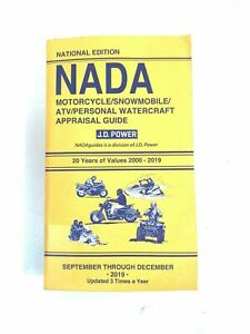 NADA 2019 Motorcycle Snowmobile ATV & Personal Watercraft APPRAISAL VALUE GUIDE