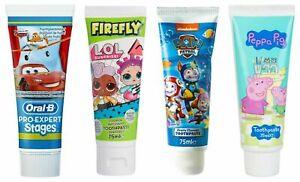Character Disney Kids Children Fluoride Toothpaste 75 ml