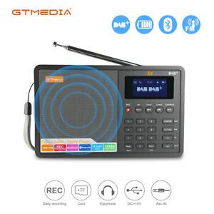 GTMEDIA D1 Digital Radio DAB+ FM RDS Multi Band Alarm Clock Support TF Card ot16