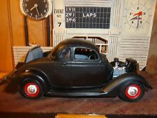 Revell '36 Ford 5 Window Flahead Primered Red Steelies 1/25 Built Model Diorama