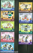 Dominica Disney Espana Soccer 1984 Set Scott #744/52 Mint Never Hinged
