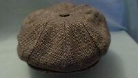 GREY 1900,S 1920,S 1930,s RETRO VICTORIAN EDWARDIAN PEAKY BLINDERS PEAK CAP