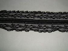 4 yards of black stretch lace trim   1 1/2 W S5-5