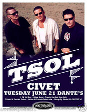Tsol 2011 Portland Concert Tour Poster -Punk Rock