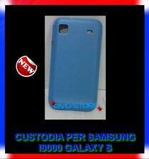 Pellicola+Custodia Back cover guscio DREAM MESH AZZURRA per SAMSUNG I9000 GALAXY