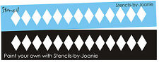 "Diamond Border STENCIL 1.25"" tall Harlequin Texture Design Wall Art Shabby signs"