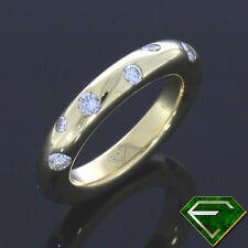 Reinheit VS Echte Diamanten-Ringe aus Gelbgold mit Brilliantschliff