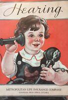 Vintage Hearing Booklet Metropolitan Life Insurance Co. Canada Ottawa E83