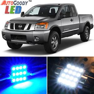 16 x Premium Blue LED Lights Interior Package Kit for Nissan Titan 04-15 + Tool