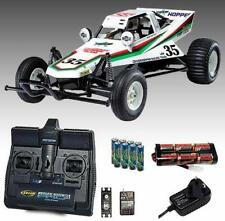 TAMIYA 58346 Grasshopper Buggy RC Car Kit Bundle with Radio, Battery & Charger