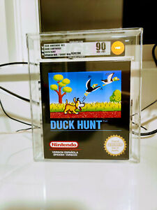 Duck Hunt NES PAL Factory New Short Box UNOPENED Print VGA 90 RARE MINT Print!