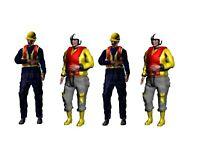 Highly-detailed Figures of 4  Boat Crew people 25 mm OO Gauge