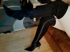 Overknee Biondini Leder Stiefel weich GR.37, 70th/80th style; Neu