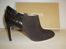 Michael Kors Size 8 M Sammy Coffee Brown Suede Ankle BOOTS Womens Shoes