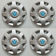 "NEW 1998-2009 VW BEETLE 16"" BLUE DAISY FLOWER Hubcaps Wheelcovers SET of 4"