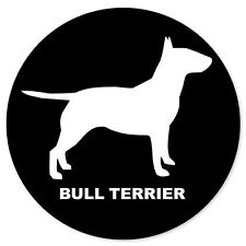"BULL TERRIER dog car bumper sticker decal 4"" x 4"""
