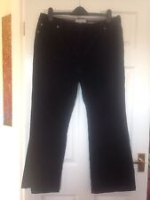 Laura Ashley Black Cord Trousers size 18