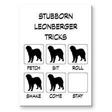 Leonberger Stubborn Tricks Fridge Magnet Funny