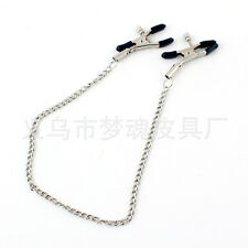 Metal Chain Nipple Clamps Chains Adult Game Breast Clips Sexy Folder Toys