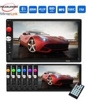 Mirror Lien 7'' Touch Screen Car Radio Stereo 2 Din MP5 MP4 Bluetooth AUX USB TF