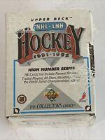 Upper Deck NHL Hockey 1991-1992 High Number Series Factory Sealed Pack