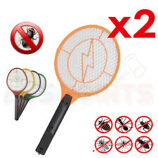 Electronic Fly Swatter Mosquito Bug Kill Electric Zapper Racket SYD STOCK