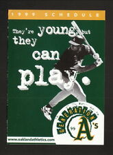 1999 Oakland Athletics Schedule--Budweiser