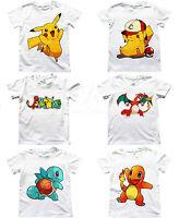 UK SELLER Pokemon Go Boys Girls Unisex Kids T Shirt Pikachu Charmander Charizard