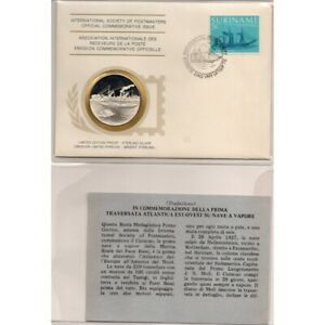 1977 Suriname Ship Curacao Postmasters FDC And Silver Medal MF62912