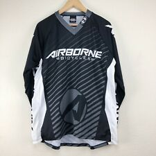 Hot Shoppe Designs Airborne Bicycles Cycling Black Shirt Men's Large