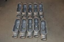 "CROUSE-HINDS 1 1/2"" TB STYLE TB-50 Iron Conduit Body w/o Cover Lot of 10"