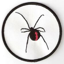 RED BACK SPIDER ** Iron on Patch Badge Poisonous Aussie Insect. Aussie Seller