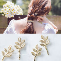 1 PC Clip Fashion Hair Pin Women Bobby Hairpin Girls Leaf Accessories Barrette