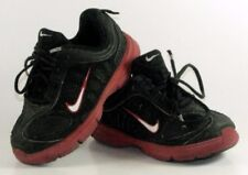 Nike Toddler Black Red White Sneakers Shoes Sz 9 US 26 EU Clean